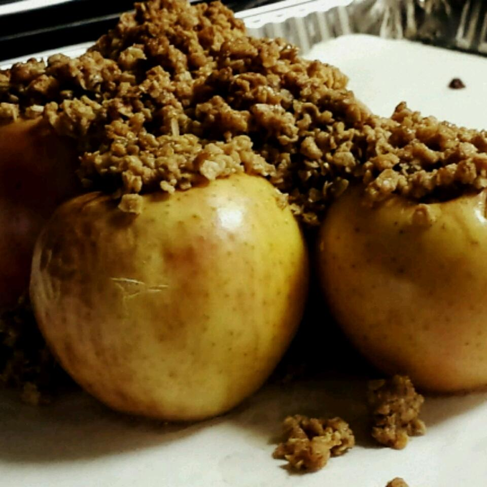Baked Apples with Oatmeal Filling Marissa Ivette
