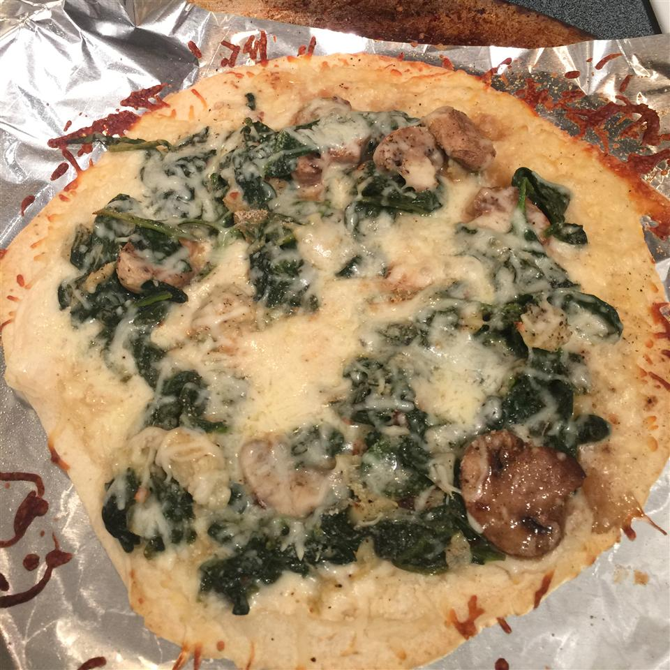 Spinach Alfredo Pizza Billie Charvet