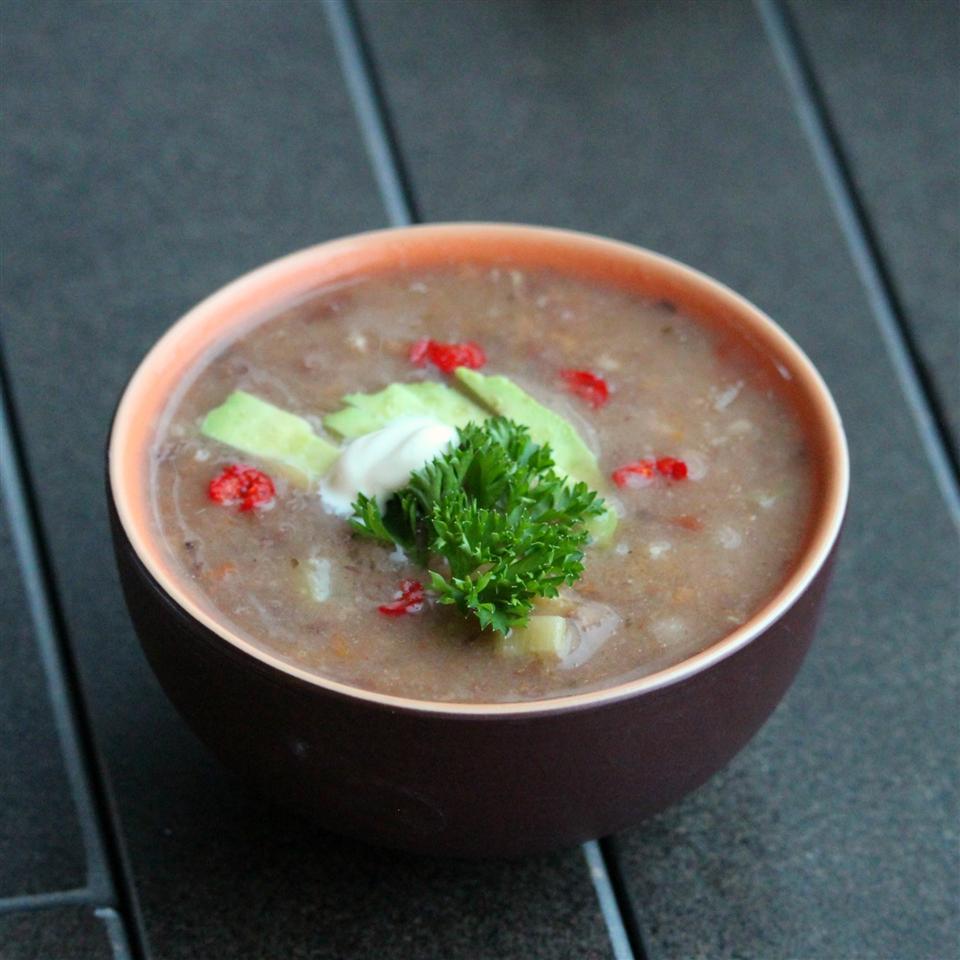 Fiesta Refried Bean Soup Buckwheat Queen
