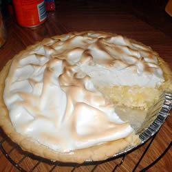 Pineapple Sour Cream Pie rich