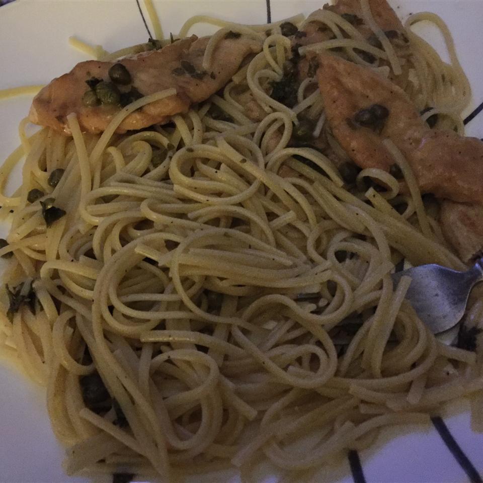 Chicken Piccata with Angel Hair Pasta