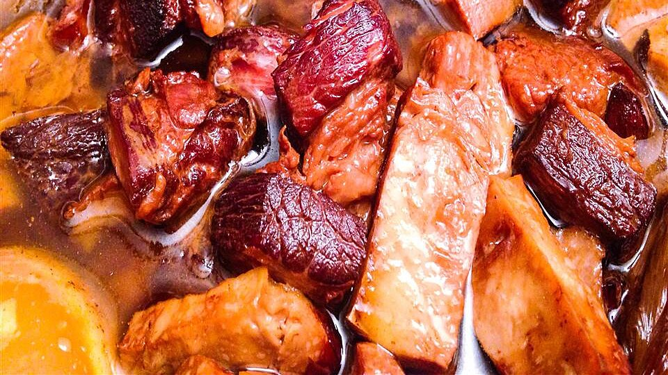 Slow Cooked Red Braised Pork Belly Recipe Allrecipes
