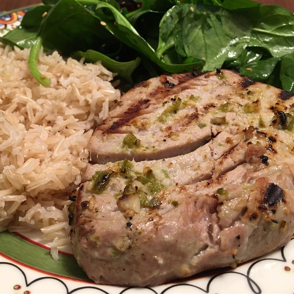 Grilled Jalapeno Tuna Steaks RELcooks