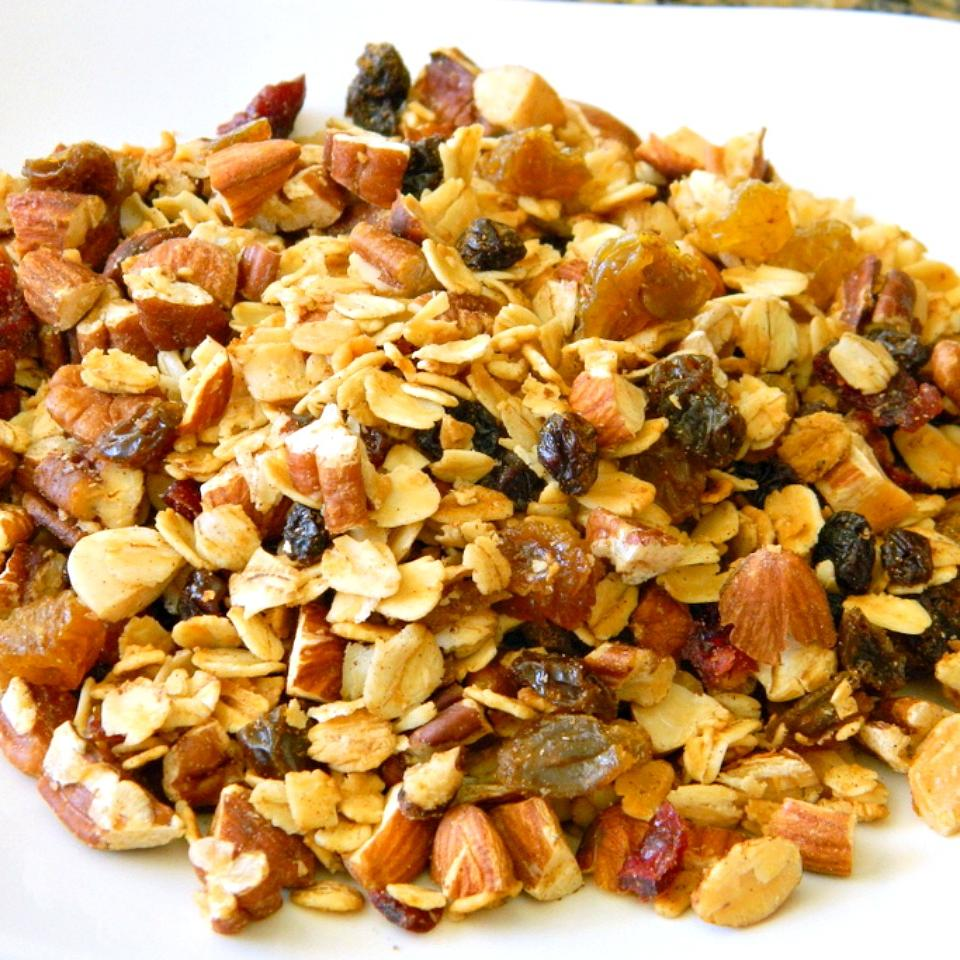 Maple Pecan Granola with Dried Fruit