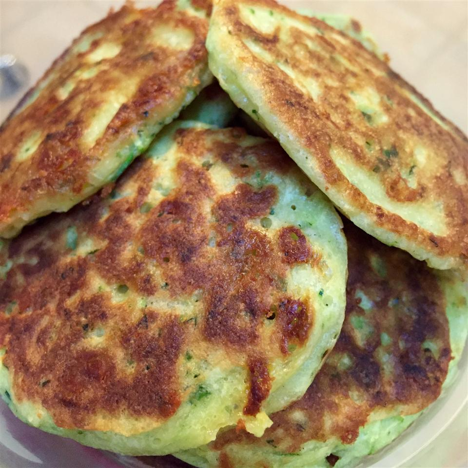 Zucchini Cheddar Pancakes Jessica