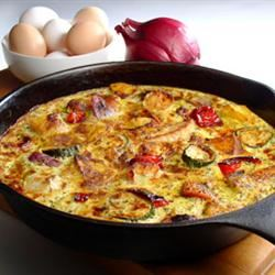 Potato and Zucchini Frittata
