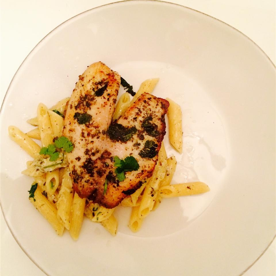 Pan Seared Lemon Tilapia with Parmesan Pasta Aja Stizzo Ritchie