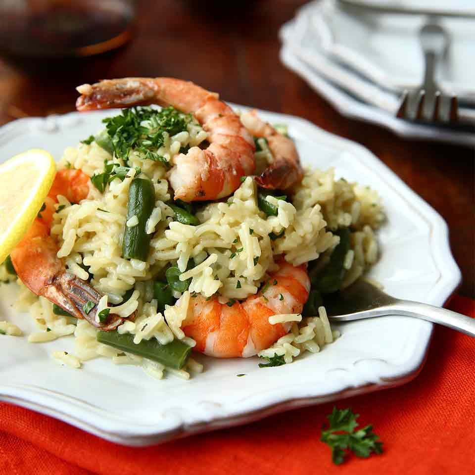 Shrimp Scampi Over Rice from Knorr®