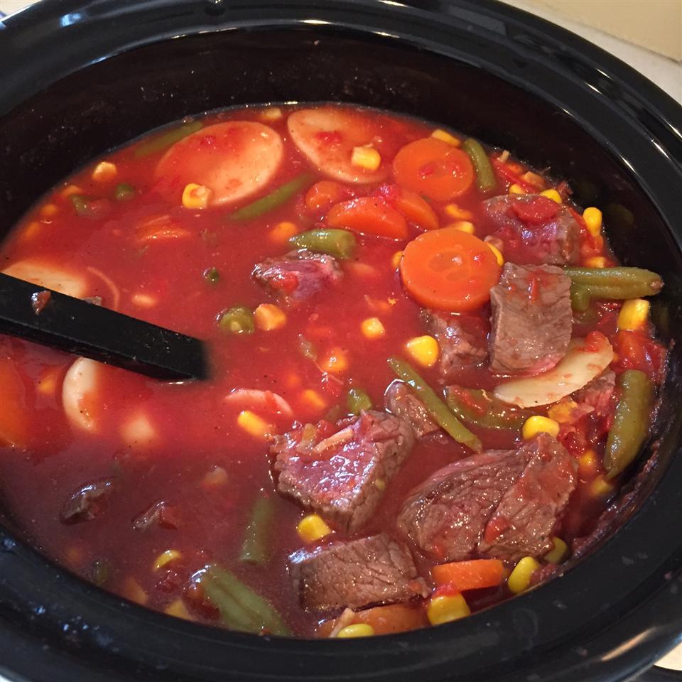 Slow Cooker Beef Vegetable Soup Robin Lester