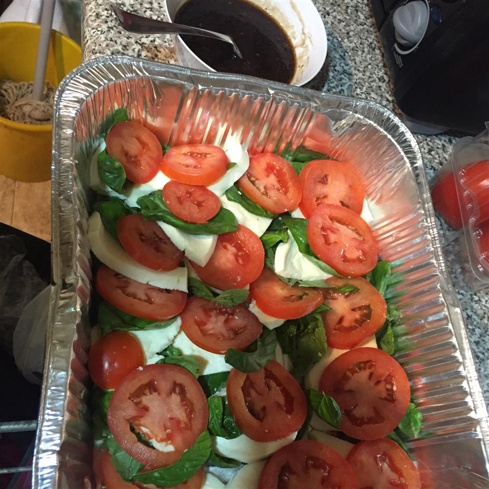 Caprese Salad with Balsamic Reduction olliesmomcooks