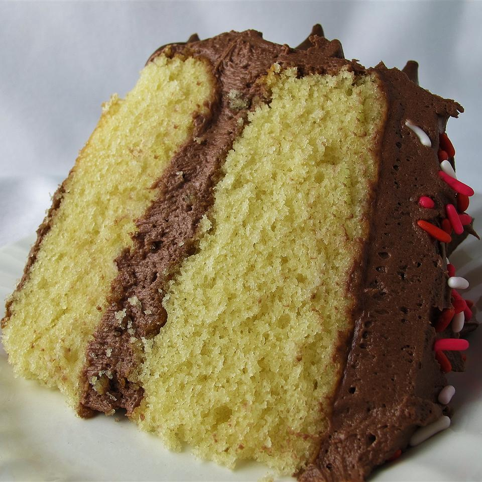 Yellow Cake Made from Scratch Foxy