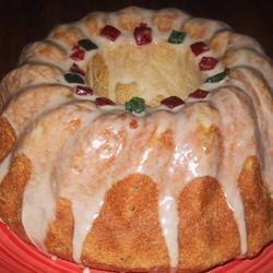 Italian Christmas Bread with Eggnog Glaze