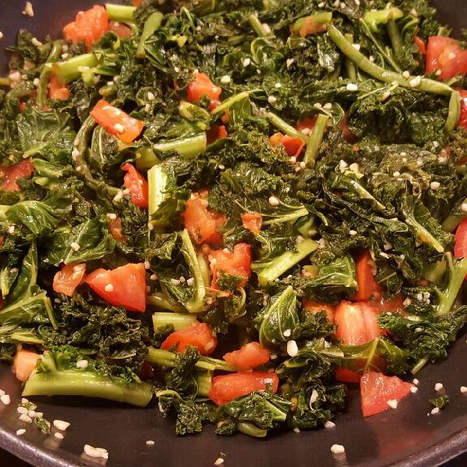 Easy Garlic Kale Anonymous