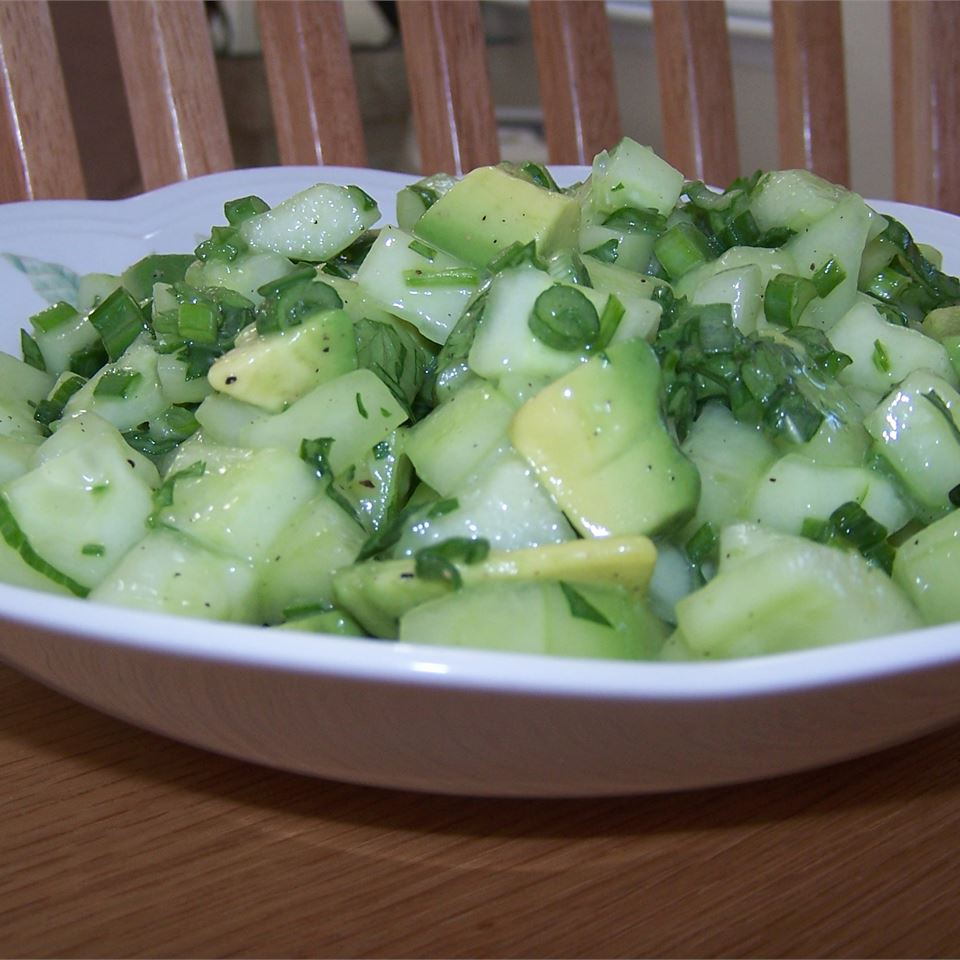 Tangy Cucumber and Avocado Salad Shannon Hewett