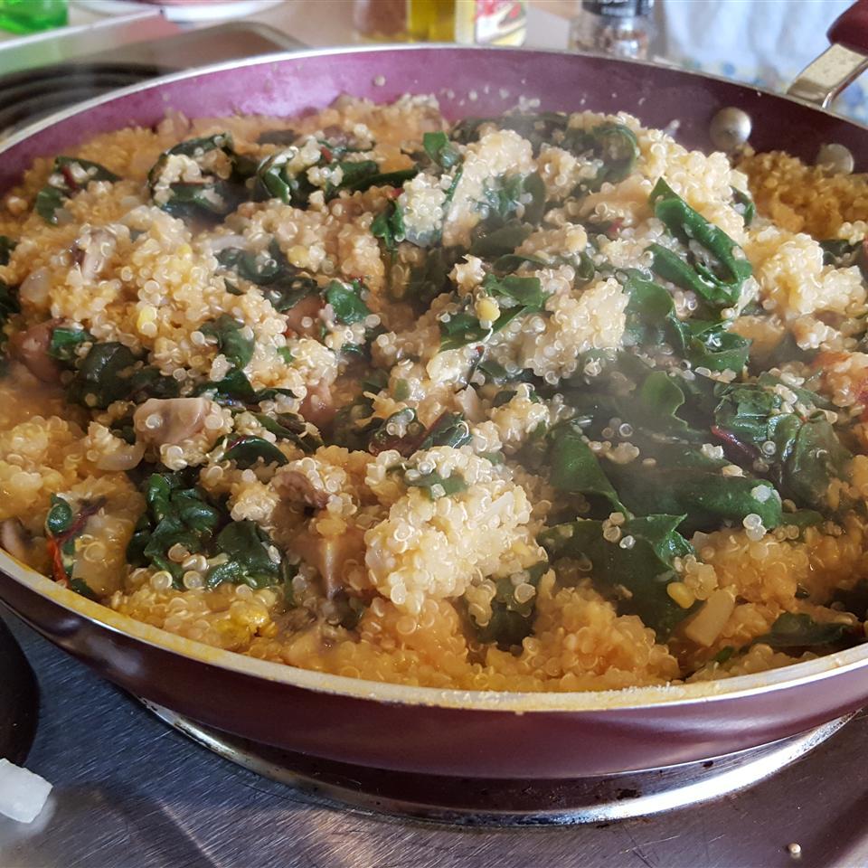 Quinoa Chard Pilaf Chez Valerie