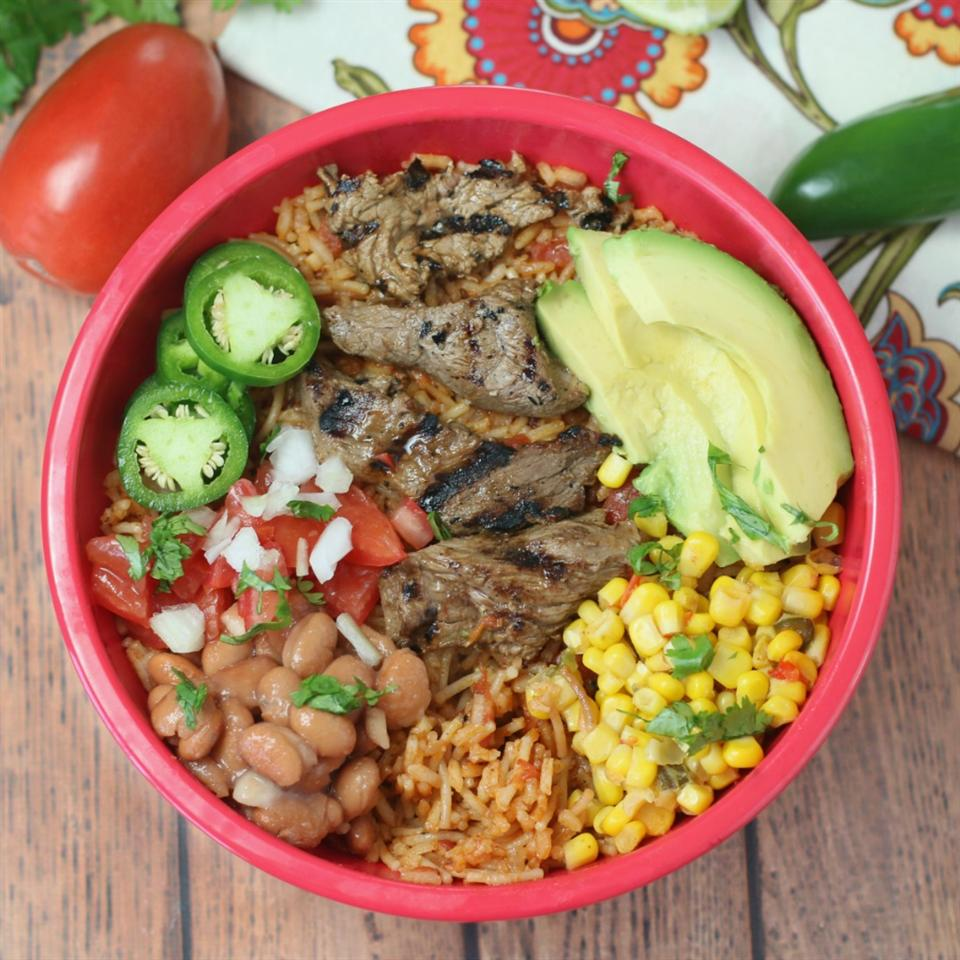 Sizzling Steak Burrito Bowl Culinary Envy