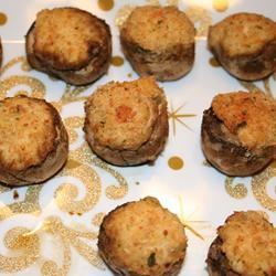 The Best Seafood Stuffed Mushrooms