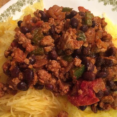 mexican spaghetti squash stir fry recipe