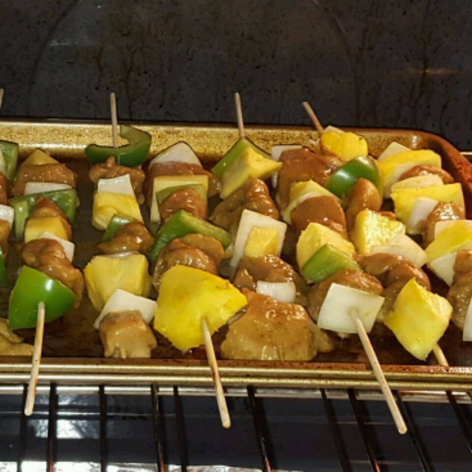 Thai Teriyaki BBQ Chicken Kabobs