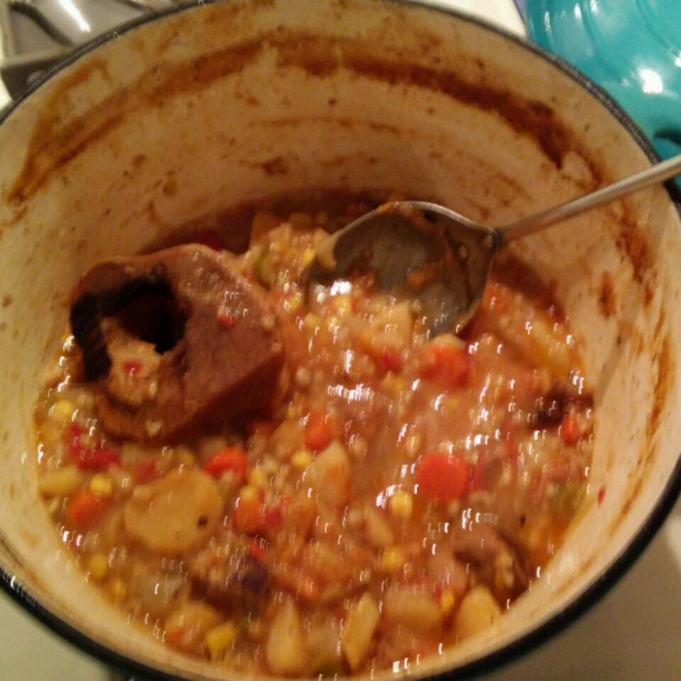 Dutch Oven Vegetable Beef Soup