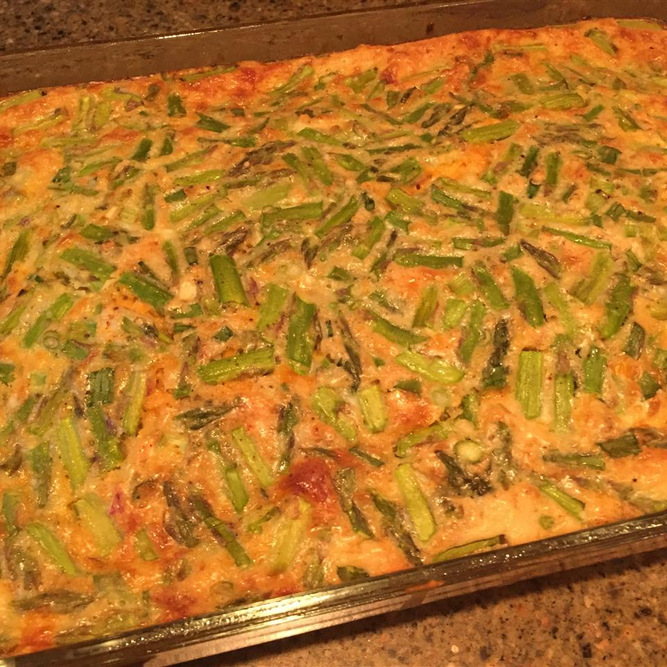 Impossibly Easy Ham and Asparagus Pie catlac