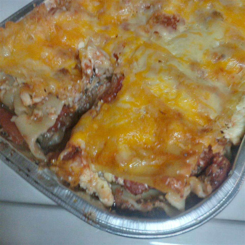 Eggplant and Ground Beef Lasagna