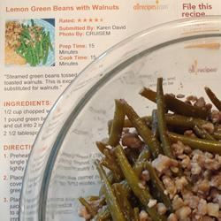 Lemony Green Beans with Walnuts and Thyme NE1canCook