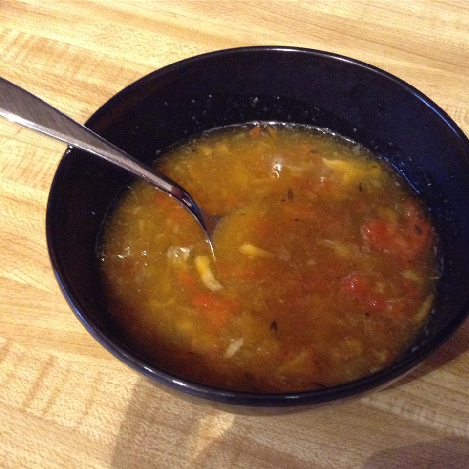 Rainbow Roasted Pepper Soup Roseann