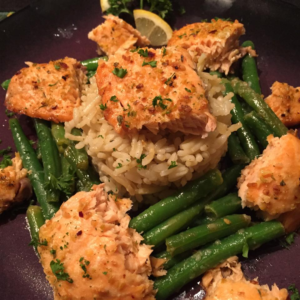 Salmon Scampi and Rice thedailygourmet