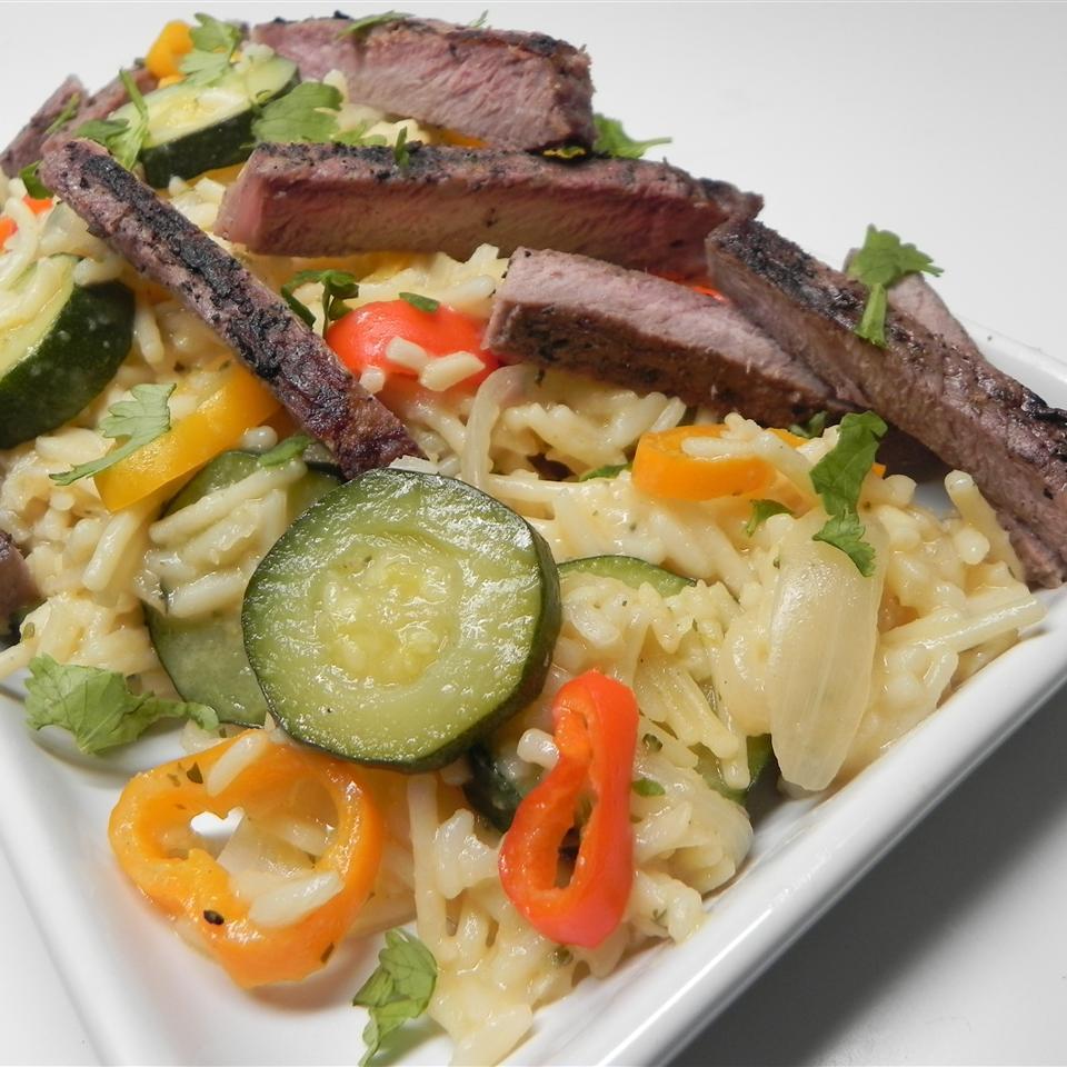 Grilled Steak & Summer Vegetable Rice Soup Loving Nicole