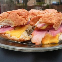 Easy Ham and Cheese Appetizer Sandwiches