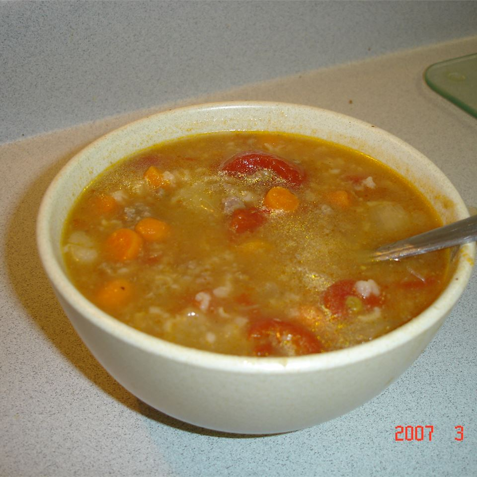 Hamburger Rice Soup