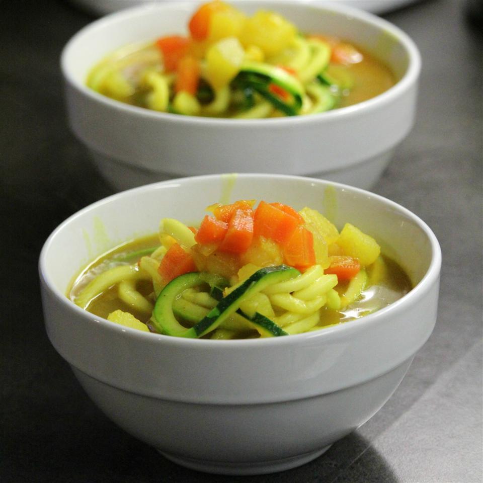 Potato, Leek, Carrot and Turmeric Soup