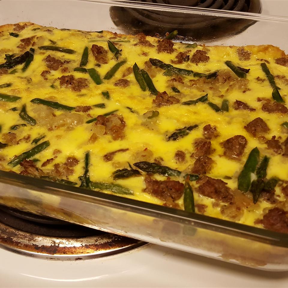 Asparagus, Potato, and Onion Frittata emagabell