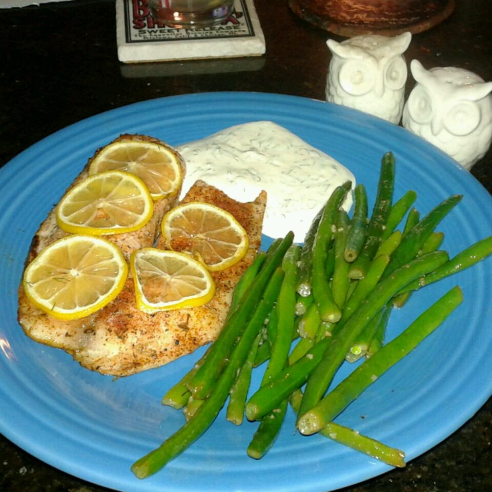 Hudson's Baked Tilapia with Dill Sauce
