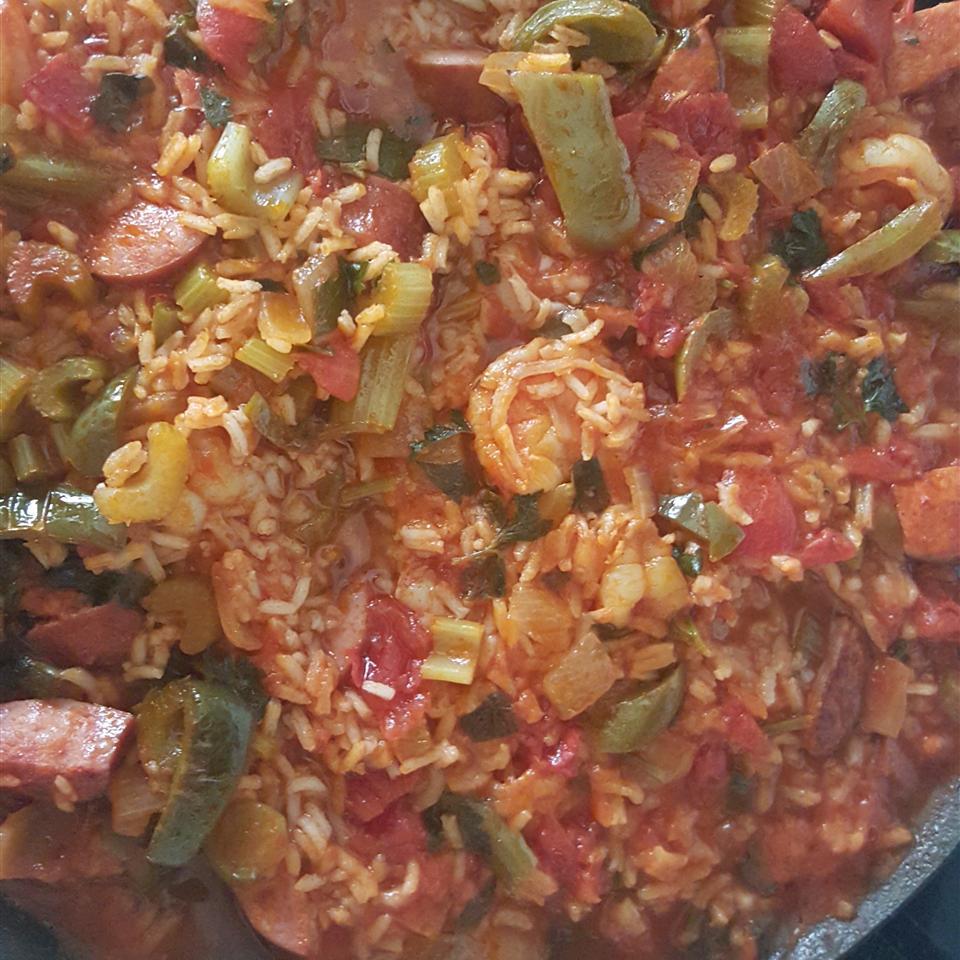 Shrimp, Sausage, and Fish Jambalaya