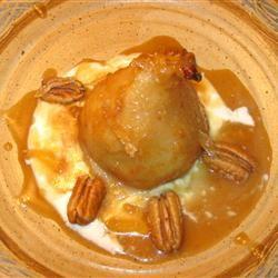 Roasted Pears with Caramel Sauce Julie Shehata