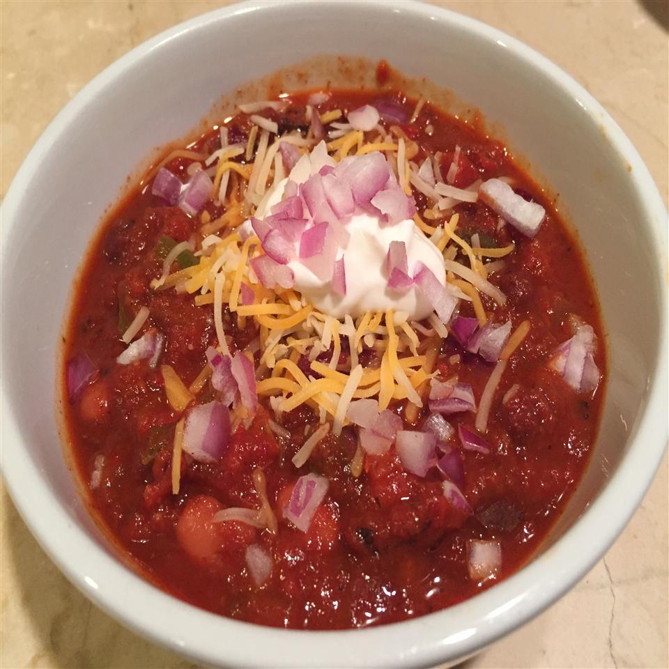 Vegetarian Bloody Mary Bean Chili