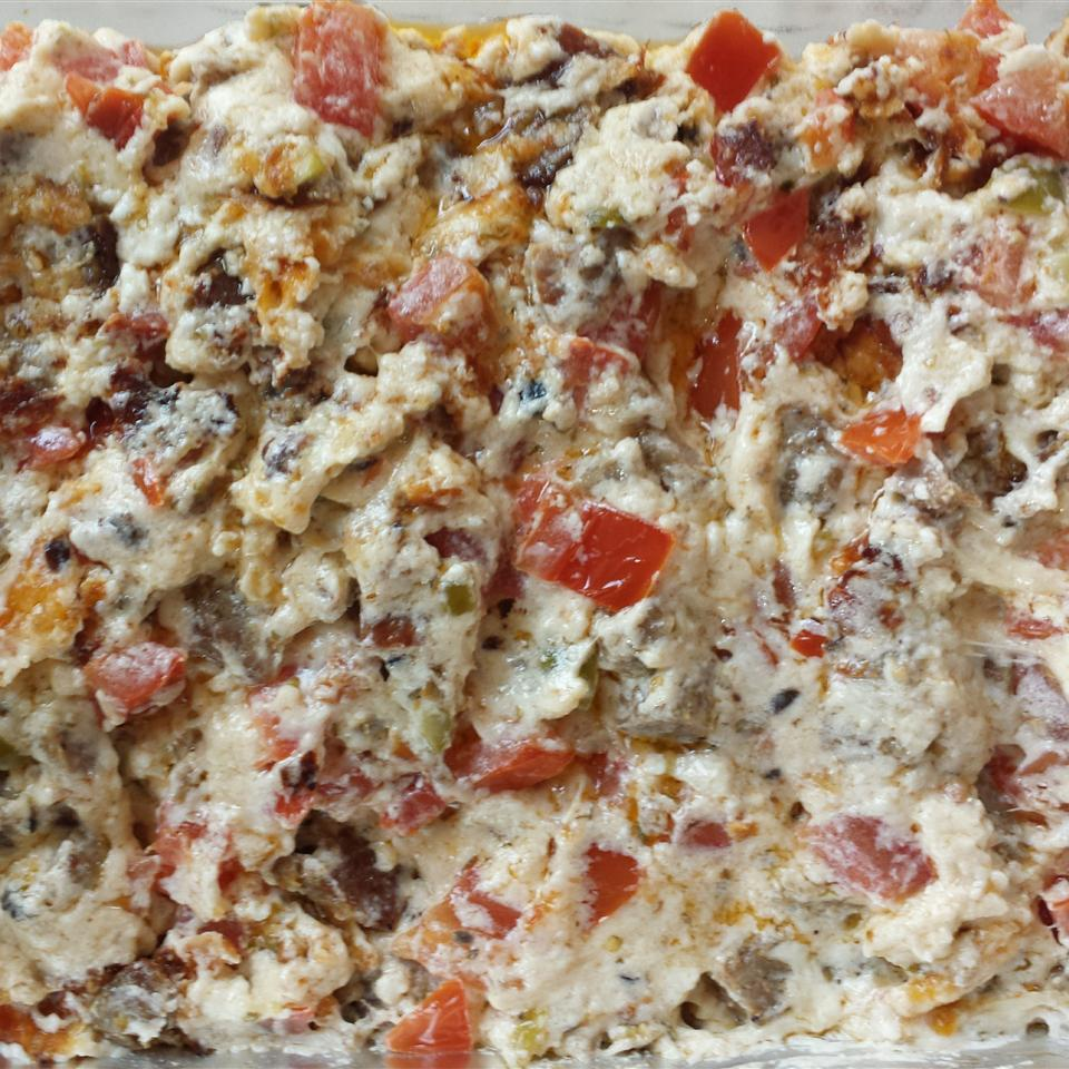 RITZ White Pizza Meatball Dip, created by Lombardi's Pizza