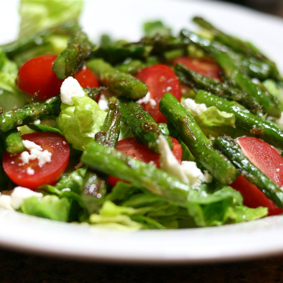 Roasted Asparagus Salad with Feta Cheese pbutler