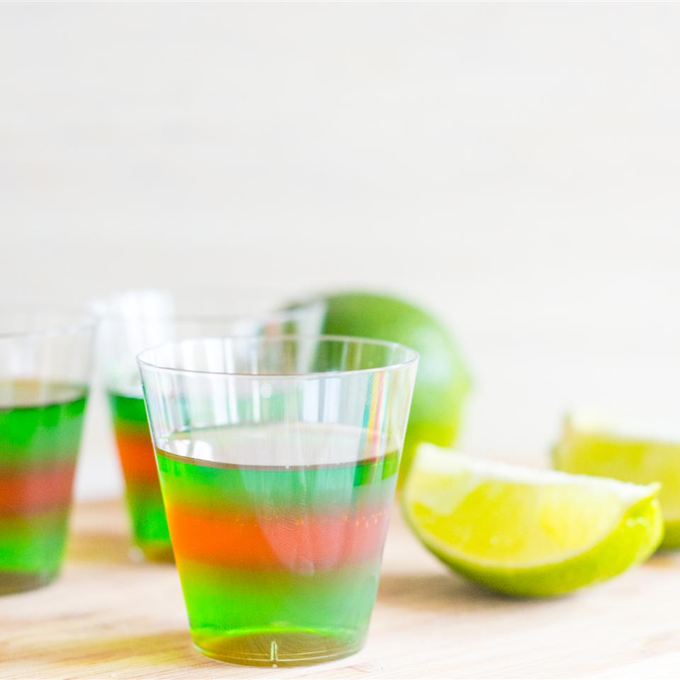 Layered Margarita Jell-O® Shots