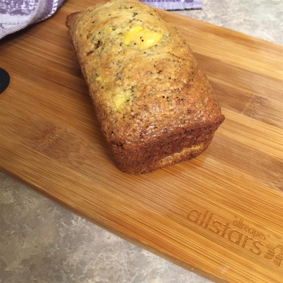 Peach and Poppy Seed Bread thedailygourmet