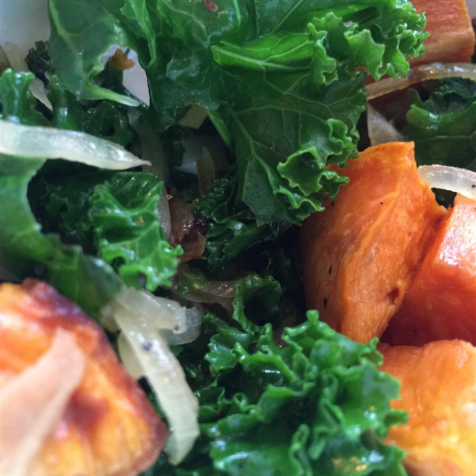 Roasted Yam and Kale Salad Jennifer Ognek