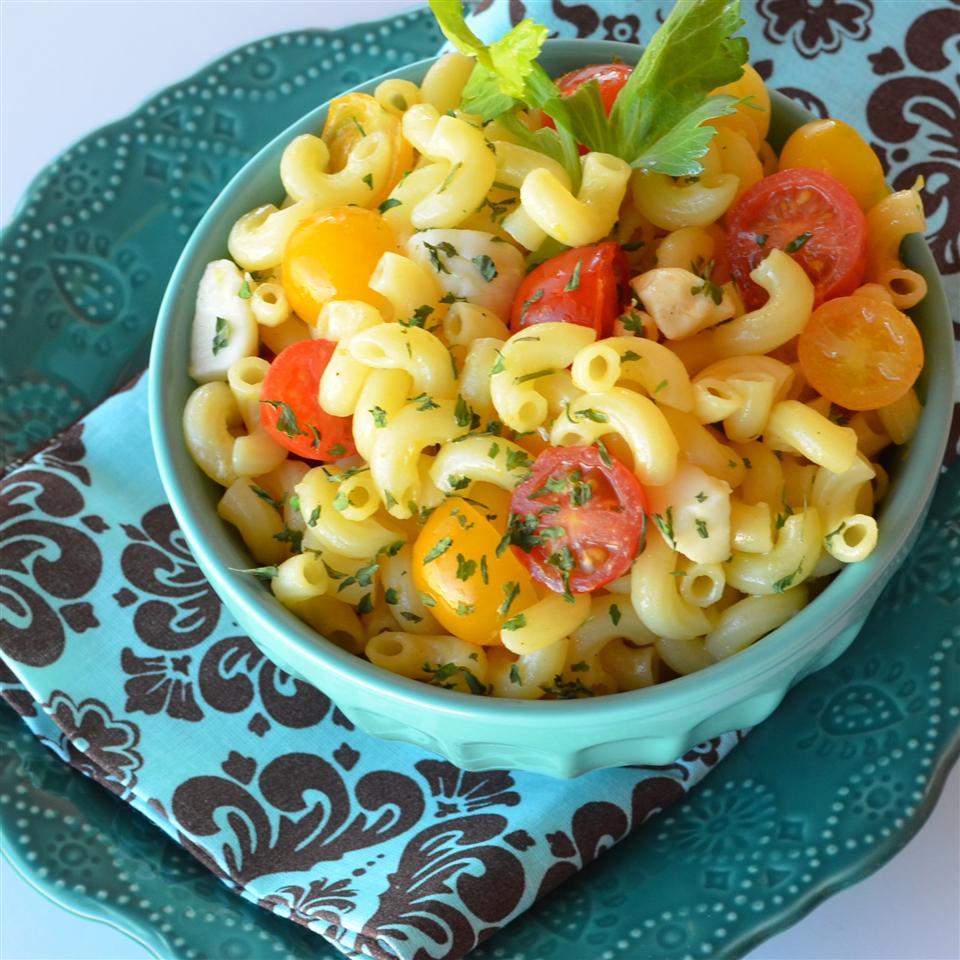 Gluten Free Elbows Tomato & Mozzarella Pasta Salad Lela
