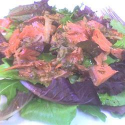 Smoked Salmon & Watercress Salad With Red Onion-Caper Vinaigrette