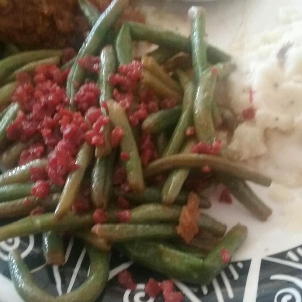 Citrus-Bacon Green Beans Veronica Sanchez