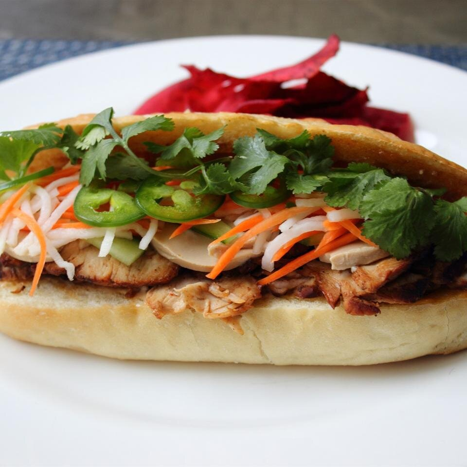 Roasted Pork Banh Mi Vietnamese Sandwich Allrecipes