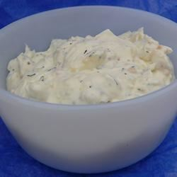 Garlic and Herb Cream Cheese Scotdog