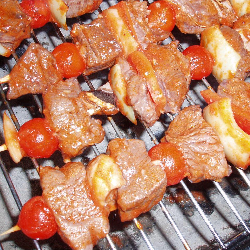 Best Ever Saucy Beef Kabobs