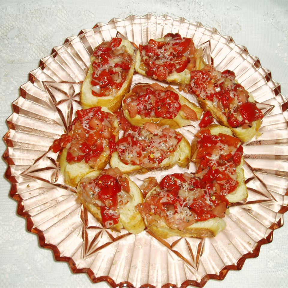 Bruschetta with Roasted Sweet Red Peppers CARLYNSMOMMY